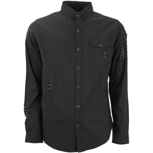 Mens Cotton Shirt With Rips And Tears Branded Soulstar Fashion Street Wear New