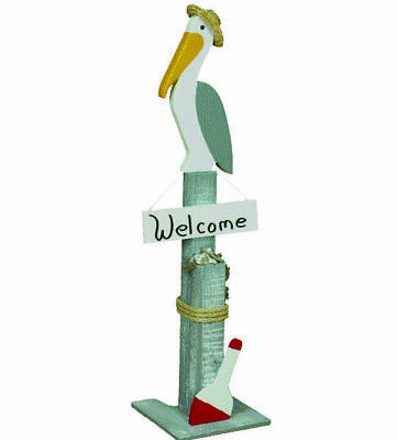 Welcome Post Lawn Ornament with Pelican - Made In USA | eBay