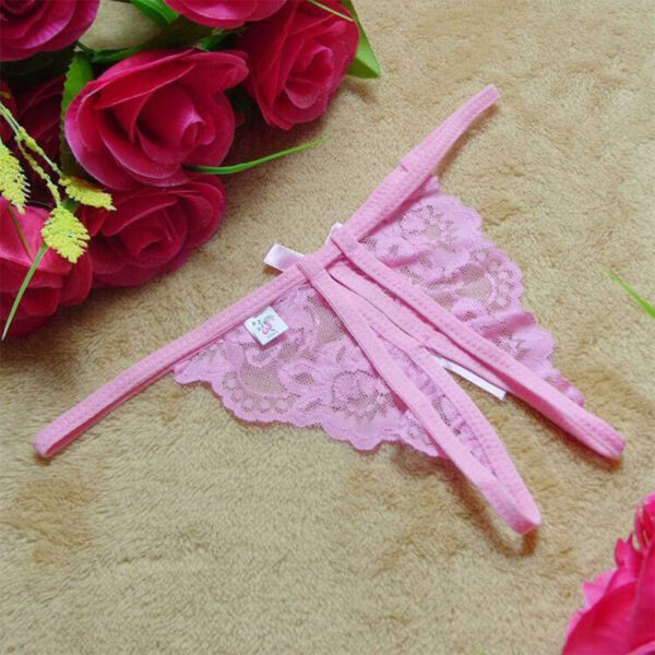 Damen String Sexy Pants Slip Panty Offen Tanga Spitze Schmetterling Thong Hösche