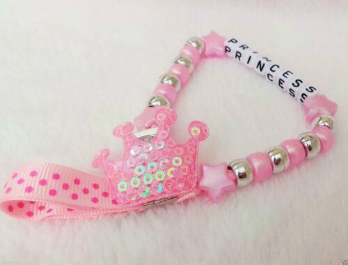 Personalizzata mozzafiato CROWN manichino clip della catena di un nome qualsiasi per bambole rinate