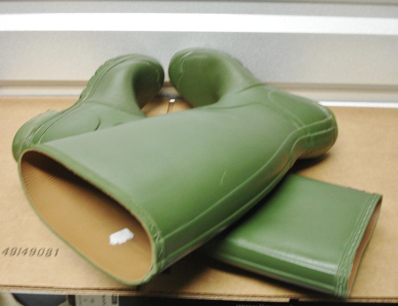 Rare Hunter Limited Ed Classic Green *Pelle Lined* Rubber Stivali   10 UK9 EU43
