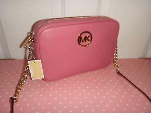 fcfaaa923e51 MICHAEL KORS Women's MK Fulton LG EW Crossbody Bag Purse Pink Tulip ...