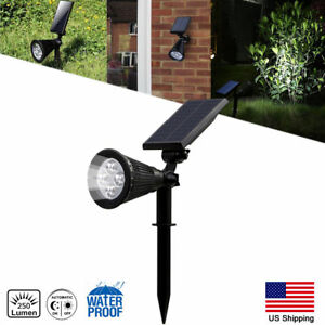 Solar Power Spot Light Outdoor LED Garden Lawn Landscape Path Wall Lamp IP65 US