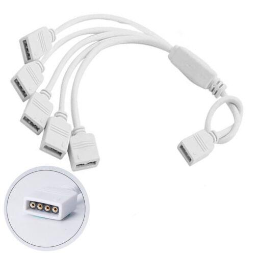 1M 2M 3M 4M 5M SMD 5050 RGB 300 LED Strip Light Adapter IR Remote Waterproof 12V