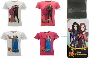T-Shirt-Descendants-Originale-Disney-Mal-e-Evie-Fucsia-e-Bianca-Original-Product