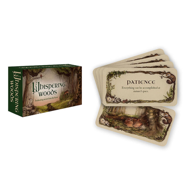 Whispering Woods Inspiration Cards NEW IN BOX Mini Oracle Deck by US Games