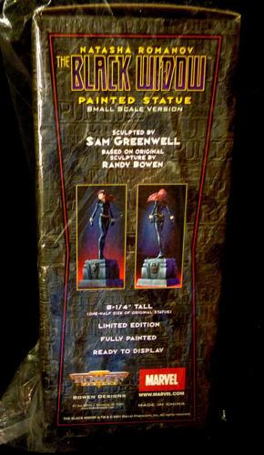 Black Widow Mini Statue Avengers Bowen Designs Marvel Comics Iron Man Movie .