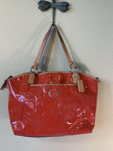 COACH  tote bag F20028 Peyton embossed patent pock
