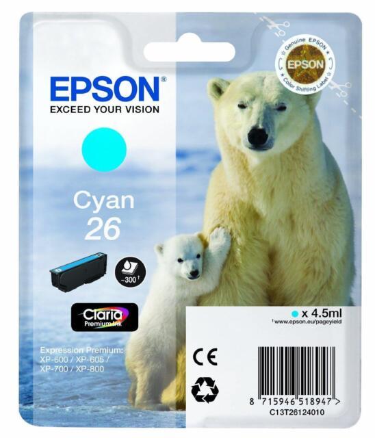 Epson Cartuccia Inkjet 26, Ciano - CT13T26124010