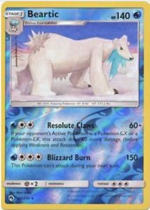 NM//M Pokemon SM8 Lost Thunder -2x BEARTIC 62//214 Reverse Holo Rare