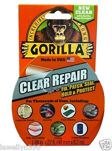 Gorilla Glue Clear Repair Tape 1 88 Quot X 27ft All Purpose Ebay
