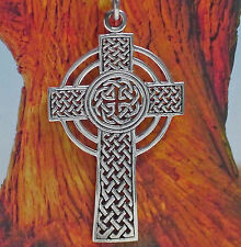 tolles großes Keltenkreuz Anhänger 925Silber Kelten Kreuz Anhänger Druiden Magie