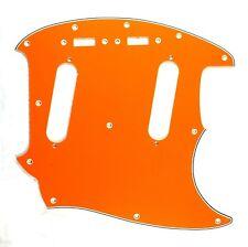 (E66) Custom Guitar Pickguard Fits Mustang Classic Series style ,4 Ply Orange