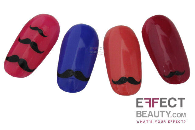 Black Moustache 3d Nail Art Stickers Transfers Decals Buy 2 Get 1 Ebay