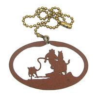 Calf Roping Rust Colored Metal Ornament/fan Pull