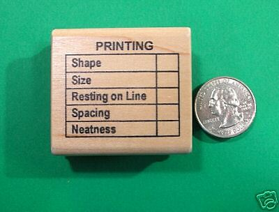 /'PRINTING/' editing form Teachers/'  Stamp Wood Mtd