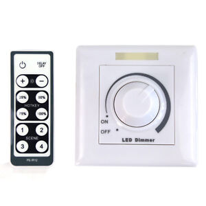 led dimmer 0 10v drehdimmer mit fernbedienung dimmbar schalter helligkeitsregler ebay. Black Bedroom Furniture Sets. Home Design Ideas