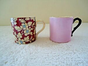 Vintage-Lot-Of-2-Small-Cups-1-BCM-Nelson-Ware-1-Other-034-GREAT-COLLECTIBLE-LOT