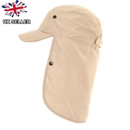 Legionär Hut Kappe UV Upf 40 Halsschutz Sommer Sonne Hut UK Verkäufer