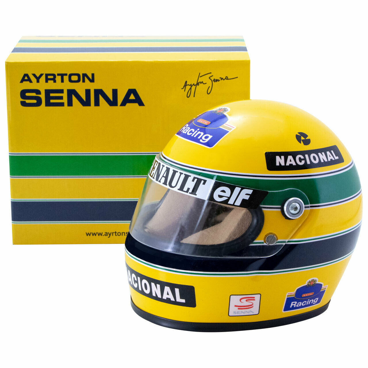 Tête casquée Miniature Casque Ayrton  Senna 1994 f1 World Champion Half Scale 1 2 nouveau neuf dans sa boîte  vente en ligne