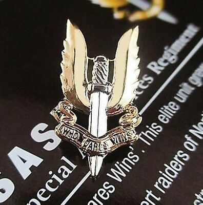 AUSTRALIAN SAS SPECIAL AIR SERVICE REGIMENT LAPEL PIN GOLD & SILVER PLATED   (0)