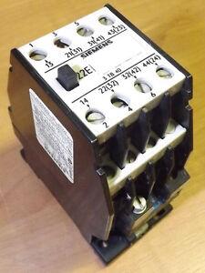 siemens 3tb40 17 0a motor starter contactor 3 pole with 220v ac rh ebay ie