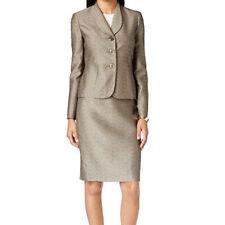 Le Suit New Petite Three-Button Jacquard Skirt Suit Size 6 MSRP $200 #LB 5-6