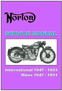 norton workshop manual manx 30 40 1947 1948 1949 1950 1951 service rh ebay com Norton 500 Motorcycle Norton Motorcycle Logo