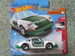 /'71 Porsche 911 HOT WHEELS Mint on blister card White HW RESCUE.