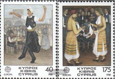 Gestempelt 1981 Folklore Systematisch Zypern 547-548 kompl.ausg.