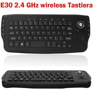 2.4G Wireless Tastiera Con Trackball Mouse Per Android Computer PC TV BOX D2I6