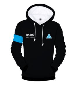 Become Human Hoodie Sweatshirt Connor RK800 Kara Baseball Coat Jacket Detroit