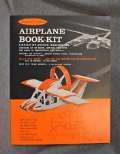 1963 Aviation Science Airplane Book-Kit Paper/Fiber Model New