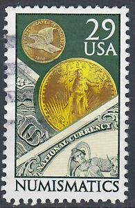 USA-Briefmarke-gestempelt-29c-Numismatics-170