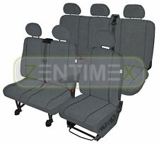 Sitzbezüge Schonbezüge SET KA VW T5 Caravelle Stoff blau