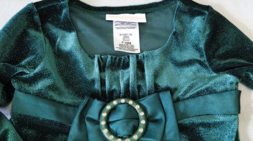 Toddler BONNIE BABY Green Red Sparkle Christmas Santa Dress sz 12M 18M 24M NWT