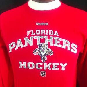 online store ab953 79357 Details about Florida Panthers T Shirt Red Long Sleeves Reebok NHL Hockey  Mens Small