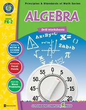 Algebra - Drill Sheets, Grades PK-2 MATH - DOWNLOAD