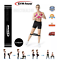 miniatuur 9 - RESISTANCE BANDS SET OR SINGLES - LATEX EXCERCISE GLUTES YOGA PILATES HOME GYM