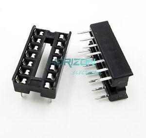 100PCS-14-Pin-DIP14-Integrated-Circuit-IC-Sockets-Adaptor-Solder-Type