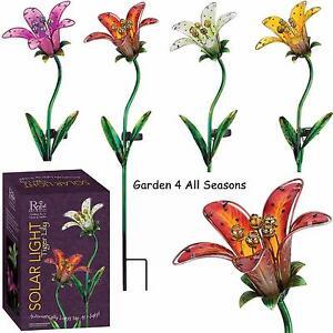 Image Is Loading Tiger Lily Flower Solar Light Garden Stake Creekwood