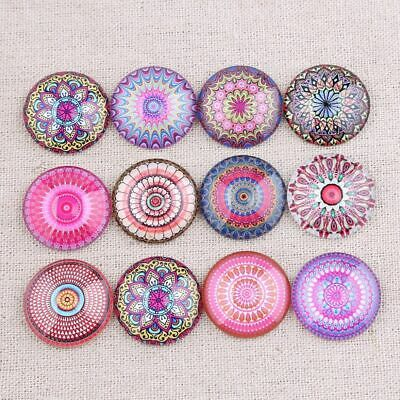 Flatback Embellishment Colorful Round Glass Cabochon Jewelry Mandala Collectives