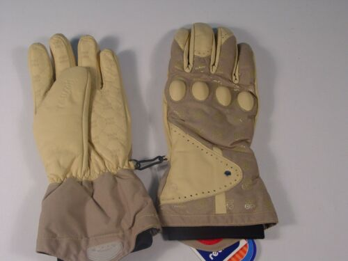 New Reusch Snowboard Gloves Knuckle Protection Leather Palms Medium #2692315