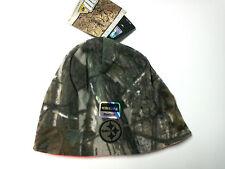 Pittsburgh Steelers Hat Reversible Camoflage/Orange Beanie Hat
