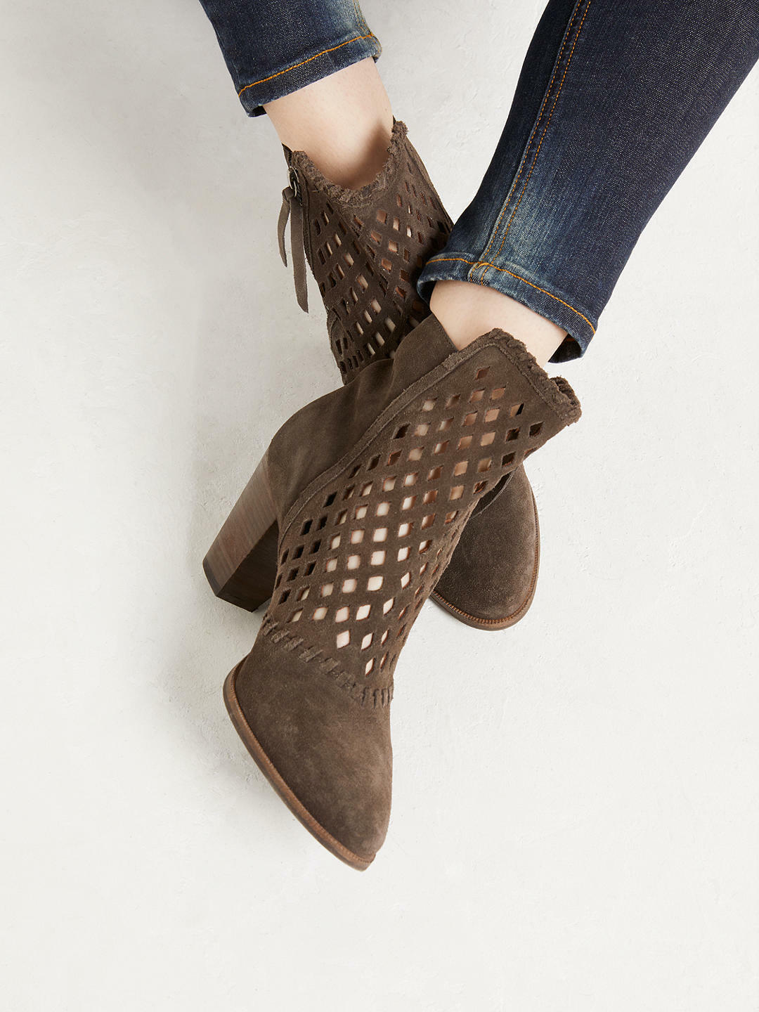 And   OR by John Lewis Grey Tros Slouchy Ankle Boots   38 BNIB