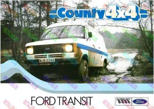 County 4x4 Ford Transit/Tractor Poster-A3 - (3 para 2 Oferta)