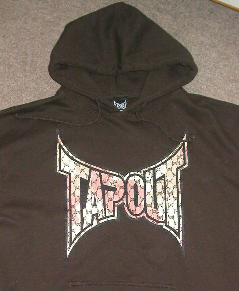 TAPOUT HOODED SWEATSHIRT LARGE L . UFC BJJ MUAY THAI BOXING MMA GYM WWE KSW NEW