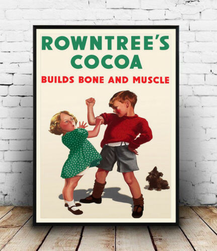 Poster Wall art vintage  advertising Rowntrees cocoa Reproduction
