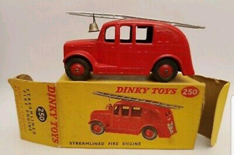Vintage Dinky 250 optimizada de bomberos con Caja Original
