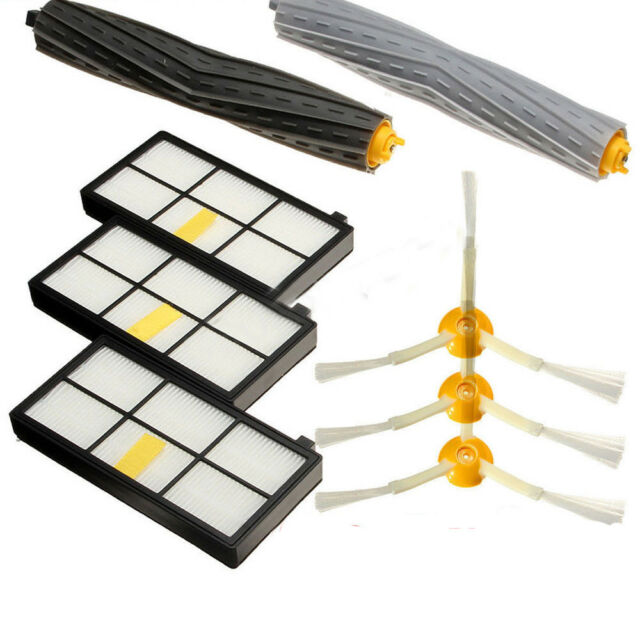 For iRobot Roomba Filters 800 /& 900 Series Part Kit 880 890 980 900 Vacuum Brush